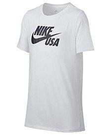 Nike Sportswear Graphic-Print Cotton T-Shirt, Big Boys