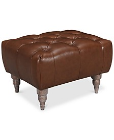 LIMITED AVAILABILITY Tosi Leather Ottoman, Created for Macy's