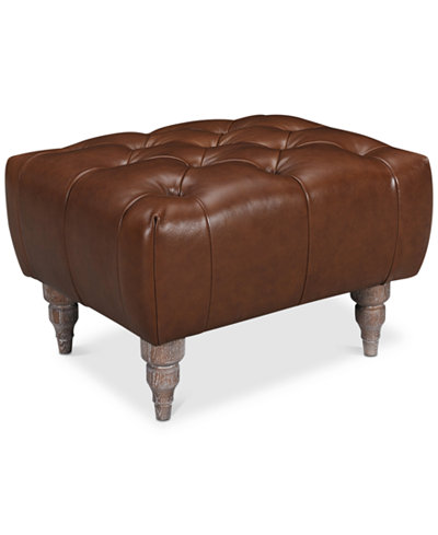 Tosi Leather Ottoman, Created for Macy's