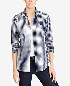 Polo Ralph Lauren Slim-Fit Gingham Poplin Shirt