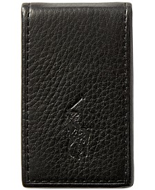 Men's Wallet, Pebbled Money Clip