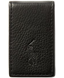 Polo Ralph Lauren Men's Wallet, Pebbled Money Clip