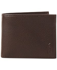 Men's Wallet, Pebbled Passcase