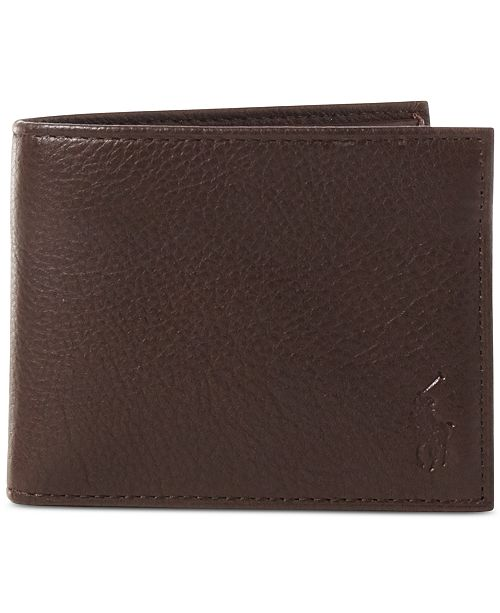 Polo Ralph Lauren Men's Wallet, Pebbled Passcase