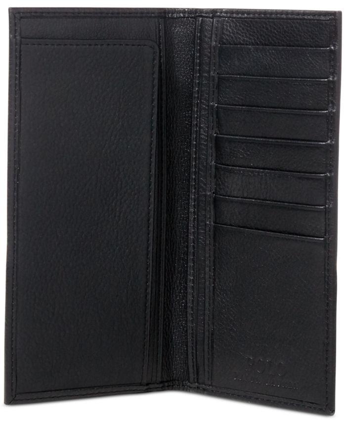 Polo Ralph Lauren Men's Wallet, Narrow Pebbled Wallet & Reviews - All Accessories - Men - Macy's