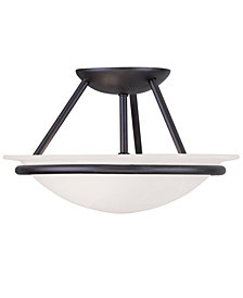 Livex Newburgh 2-Light Semi Flush Mount