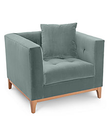 "Martha Stewart Collection Brookline 38"" Armchair - Custom Colors, Created for Macy's"
