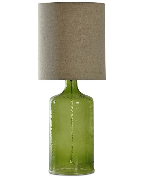 StyleCraft Seeded Glass Table Lamp