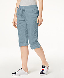 Tommy Hilfiger Sport Cotton Drawstring Capri Pants