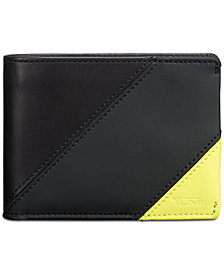Tumi Men's Colorblocked Double Billfold Leather Wallet