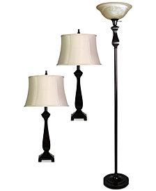 Stylecraft Madison Set of 3 Lamp Set