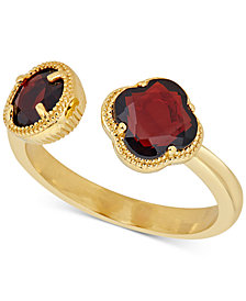 Rhodolite Garnet Cuff Ring (1-9/10 ct. t.w.) in 18k Gold-Plated Sterling Silver(Also Available In Prasiolite, Amethyst, & Sky Blue Topaz)