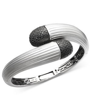 Balissima by Effy Black Diamond Wrap Bangle (1-1/2 ct. t.w.) in Sterling Silver