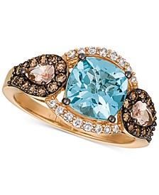 Chocolatier® Multi-Gemstone (2 ct. t.w.) & Diamond (1/2 ct. t.w.) Ring in 14k Rose Gold