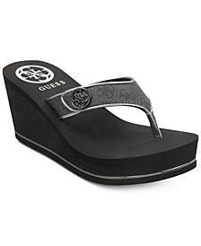 Sarraly Eva Logo Wedge Sandals