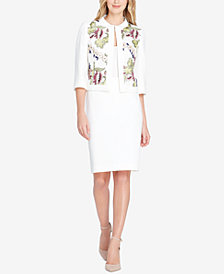 Tahari ASL Embroidered Skirt Suit, Regular & Petite