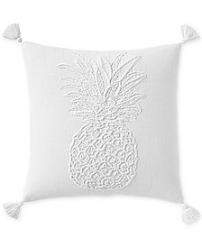 "Lucky Brand Pineapple 18"" x 18"" Decorative Pillow, Created for Macy's"