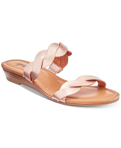 Style & Co Wennde Slip-On Wedge Sandals, Created For Macy's