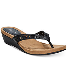 Style & Co. Haloe Wedge Thong  Sandals, Created for Macy's
