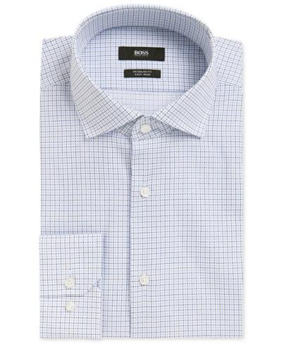 BOSS Men's Regular/Classic-Fit Plaid Cotton Dress Shirt