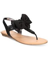 8475fc1ac9e2 Material Girl Swan Flat Thong Sandals