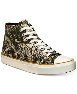 Roberto CavalliMen's Mike Tiger-Print High-Top Sneakers Men's Shoes