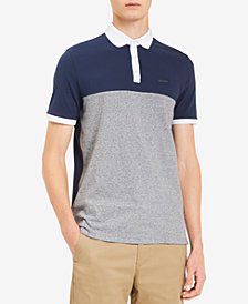 Calvin Klein Men's Colorblocked Textured-Stripe Polo