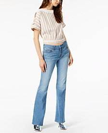 "7 For All Mankind ""A"" Pocket Flare-Leg Jeans"
