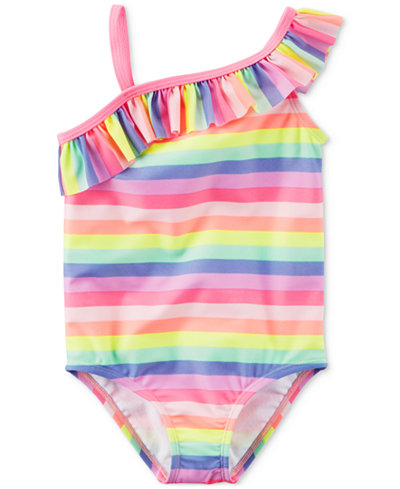 Carter's 1-Pc. Ruffled Rainbow Swimsuit, Toddler Girls