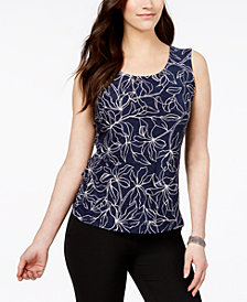 JM Collection Printed Tank Top, Created for Macy's