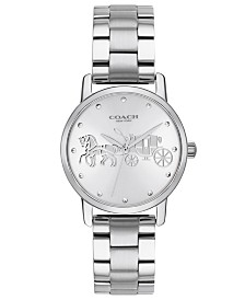 COACH Women's Grand Stainless Steel Bracelet Watch 28mm