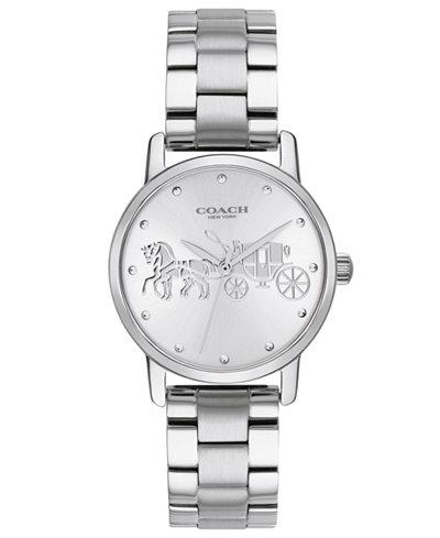 COACH Women's Grand Stainless Steel Bracelet Watch 28mm