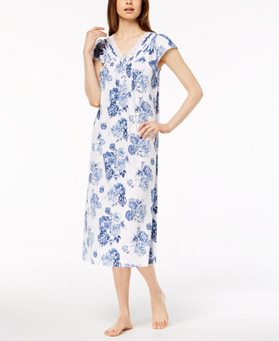 Charter Club Cotton Lace-Trim Nightgown, Created for Macy's