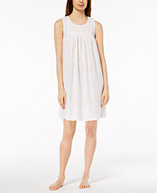 Charter Club Woven Embroidered Nightgown, Created for Macy's