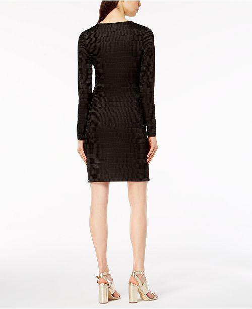 Graphite Dress Jacquard Wrap French Connection 1qpIfnB