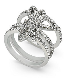 I.N.C. Woman Silver-Tone Pavé Dragonfly Statement Ring, Created for Macy's