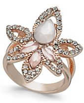 I.N.C. Rose Gold-Tone Multi-Stone Statement Ring, Created for Macy's