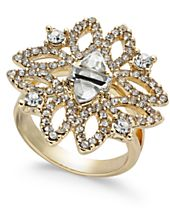 I.N.C. Gold-Tone Crystal Statement Ring, Created for Macy's