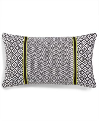 """LAST ACT! Murray 14"""" x 24"""" Geometric Decorative Pillow, Created for Macy's"""
