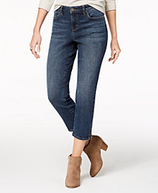 Style & Co Ankle-Zip Capri Jeans, Created for Macy's