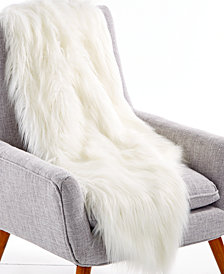 "Lacourte Flokati 50"" x 60"" Faux-Fur Throw, Created for Macy's"
