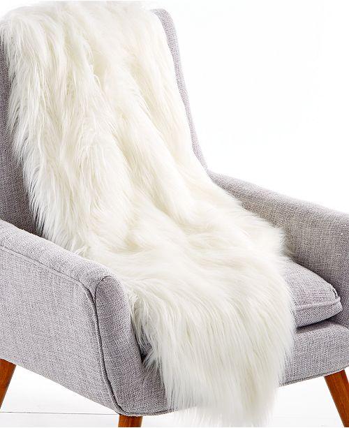 Lacourte LAST ACT Flokati 40 X 40 FauxFur Throw Created For Impressive Flokati Throw Blanket