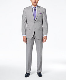 Sean John Men's Classic-Fit Stetch Gray Stripe Suit Separates