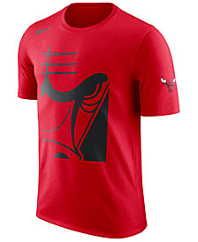 Nike Men's Chicago Bulls Cropped Logo T-Shirt