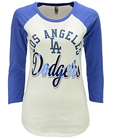 Women's Los Angeles Dodgers Tailgate Foil Raglan T-Shirt
