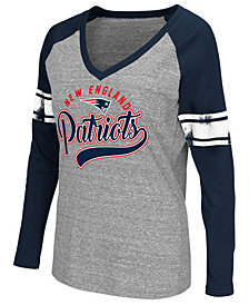 G-III Sports Women's New England Patriots Raglan Long Sleeve T-Shirt