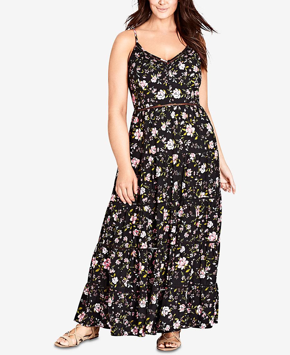 City Chic Trendy Plus Size Crochet Waist Maxi Dress Reviews
