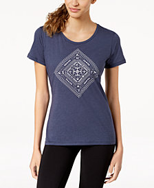 Columbia Summer Festival Diamond-Graphic Top
