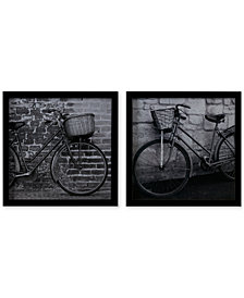 Madison Park Two Bicycles 2-Pc. Framed Graphic Print Set