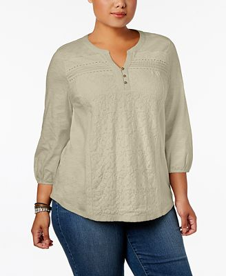 Style & Co Plus Size Lace Top, Created for Macy's